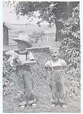 Circa 1951 Steve&John at ranch